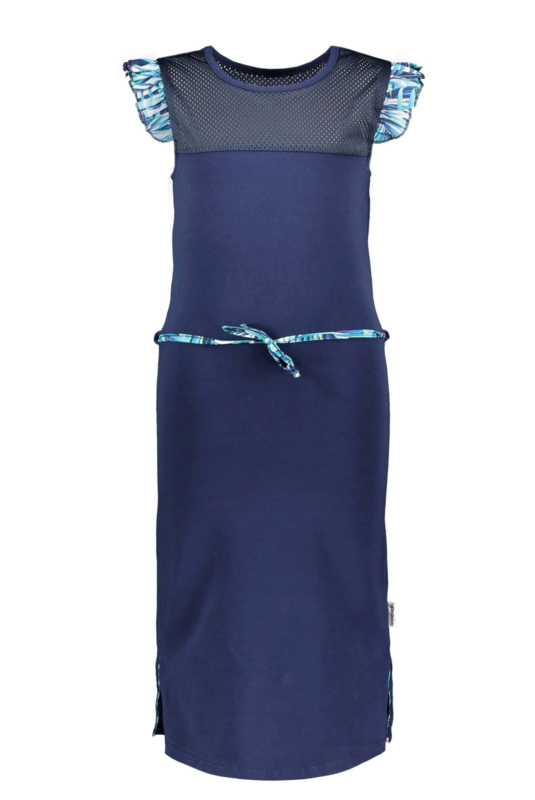 B-nosy meisjes maxi jurk blauw
