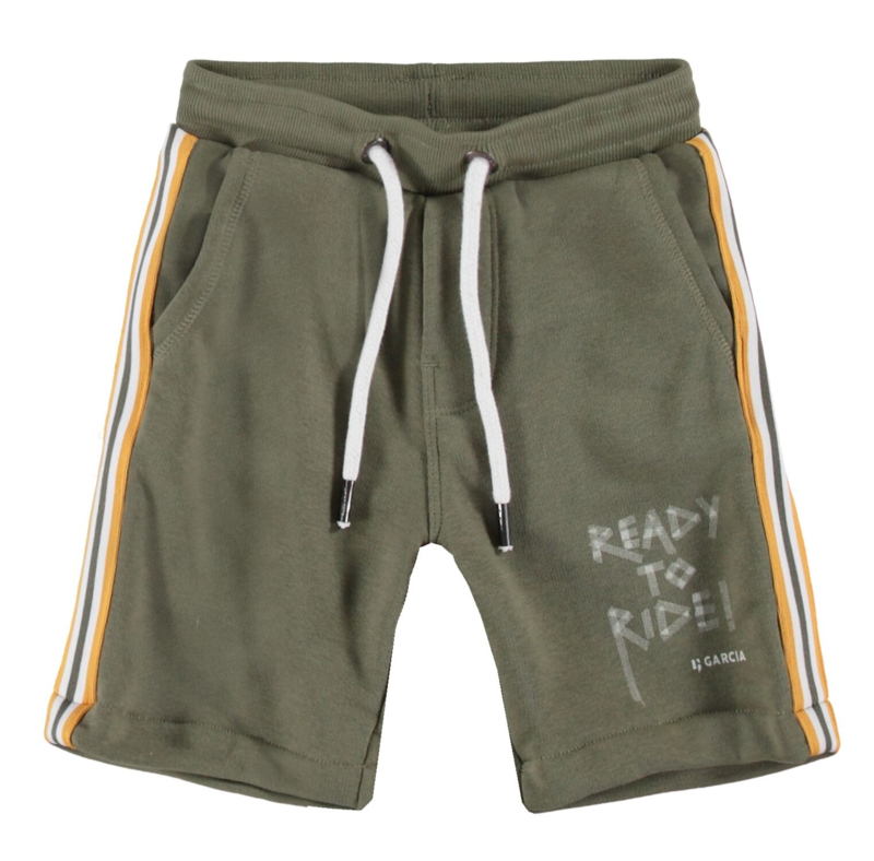 Garcia Boys korte joggingbroek army groen
