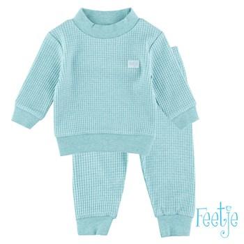 Feetje baby wafel pyjama groen