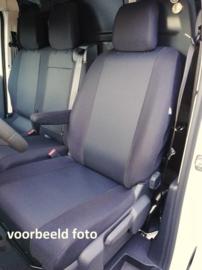 Maatwerk Autostoelhoes 1 x voorstoel + 1 x bank  NV300 (2+1)  STOF Bouwjaar 2014>