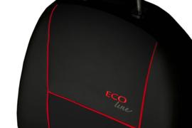 Bila voorstoelen ECO line  Zwart/Rode bies  Art.nr 90210