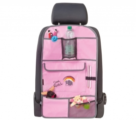 Autostoel Kinder Organizer Cool Girl Rose  Art.nr 30698