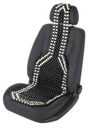 Kralenzitting voor autostoel - zwart/wit  Art.nr 13551