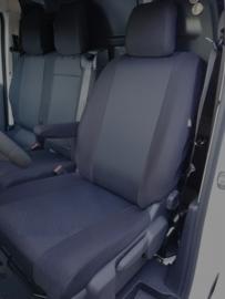 Maatwerk Autostoelhoes 1 x voorstoel + 1 x bank  Fiat TALENTO (2+1)  STOF Bouwjaar 2014-heden