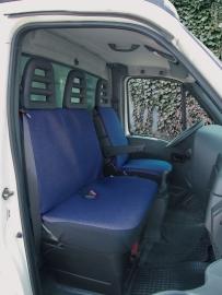 Como blauw  - 1 voorstoel + bank  Art.nr W10477