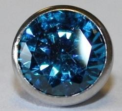 Zilverkleurig Licht blauw klein zirkonia
