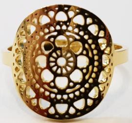 Ring verstelbaar goudkleurig