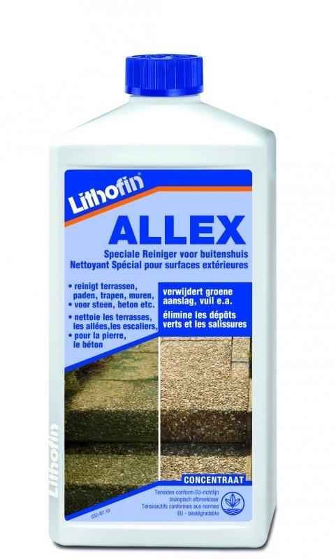 Lithofin Allex groene aanslag verwijderaar 1L(zonder chloor en/of zuur!)