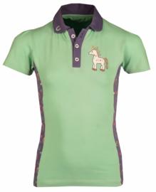 HORKA Polo Shirt Poppy Pistachio