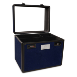 Imperial Riding Grooming Box Shiny Flower Power Navy
