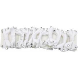 HORKA invlechtstrikjes strass | Wit
