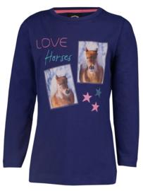 HORKA Shirt Pony | Blauw