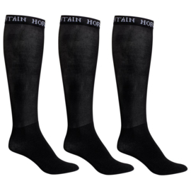Mountain Horse Competition socks 3-pack | Black