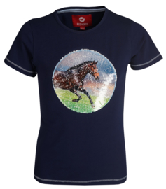 Red Horse Shirt Caliber Midnight Blue