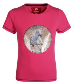 Red Horse Shirt Caliber Magenta