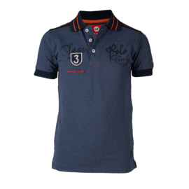 Red Horse Polo Shirt Luka | Dark Denim