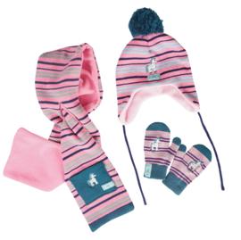 HORKA Winter Fleece set Jolly | Garnet Rose | 4-10 jaar