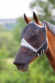 Vliegenkap met neus en uitsparing oren | zwart