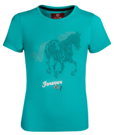 Red Horse T-shirt With Print Emerald