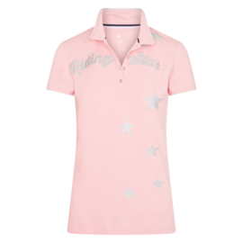 Imperial Riding KIDS Polo Shirt Time To Shine | Powder Pink