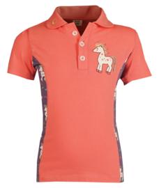 HORKA Polo Shirt Poppy Salmon