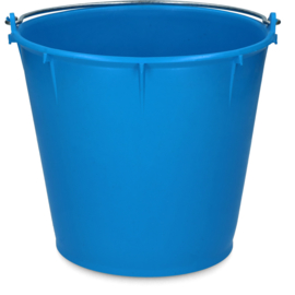 Emmer 7 liter Koningsblauw met Deksel