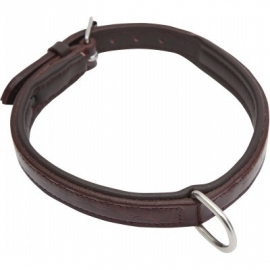 Halsband bruin Croco lak 40 cm