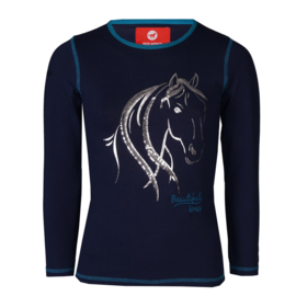 Red Horse Shirt Flash Twilight Blue