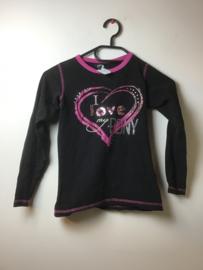 Horka  Shirt  l.m.  Zwart/Roze  128