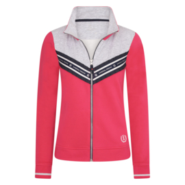 Imperial Riding Vest Sweat Cardigan Lovely Bright Rose