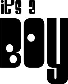 strijkapplicatie It's a Boy