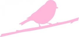 strijkapplicatie Birdy op tak