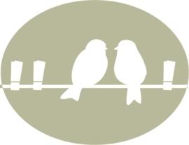 Vogeltjes op Waslijn