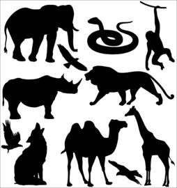 Statische raamsticker dierentuin (herbruikbaar)