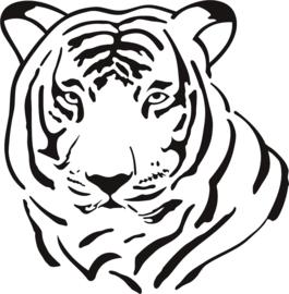 strijkapplicatie tijger