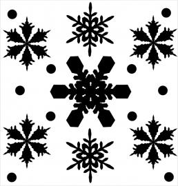 Strijkapplicatie strooi sneeuwvlokken 1