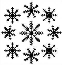 Strijkapplicatie strooi sneeuwvlokken 2