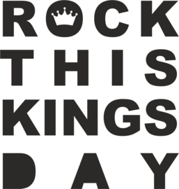 strijkapplicatie Rock this kingsday