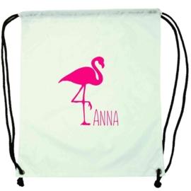 Rugzakje Flamingo met naam