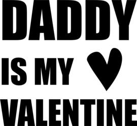 strijkapplicatie daddy is my valentine hartje