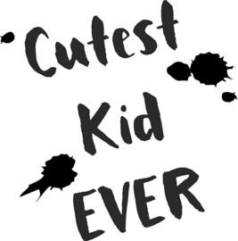 strijkapplicatie cutest kid ever verfspetters