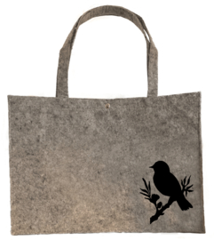 Vilten shopper vogel