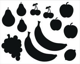 Statische stickers keukentje fruit
