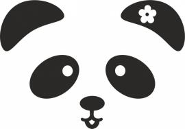 strijkapplicatie Pandabeer Snoetje Bloem