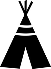 Muursticker tipi tent 1