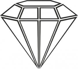 Muursticker Diamant lijnen