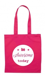linnen tas - be awesome today