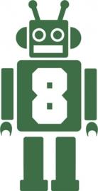 strijkapplicatie cijfer Robot - kies uit 0 t/m 9