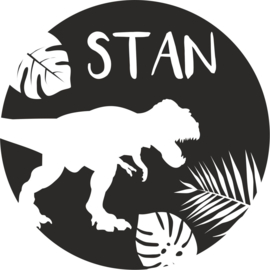 strijkapplicatie naam jungle dino