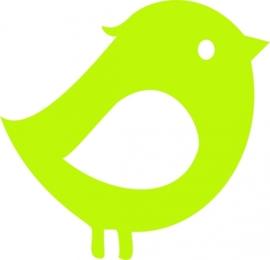 strijkapplicatie Kuifvogeltje